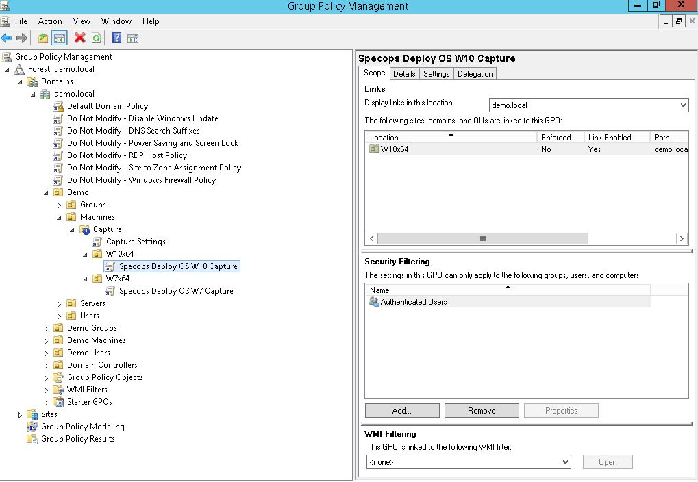 screenshot of group policy management specops deploy golden image golden - 3