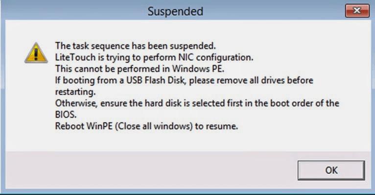 NIC Configuration Error | Specops Software