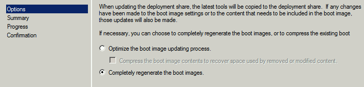 Completely Regenerate the Boot Images