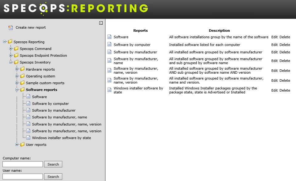 Inventory Reporting