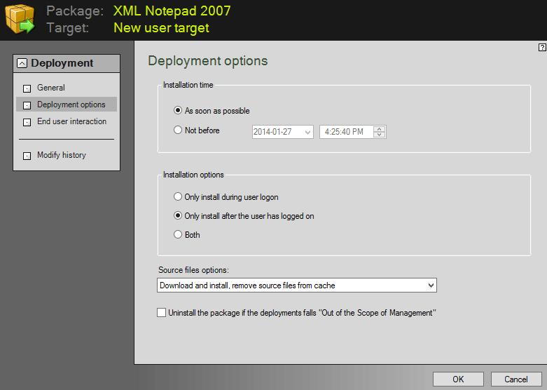 Configure the deployment