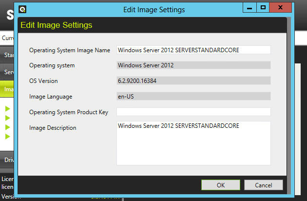 Edit Image Settings