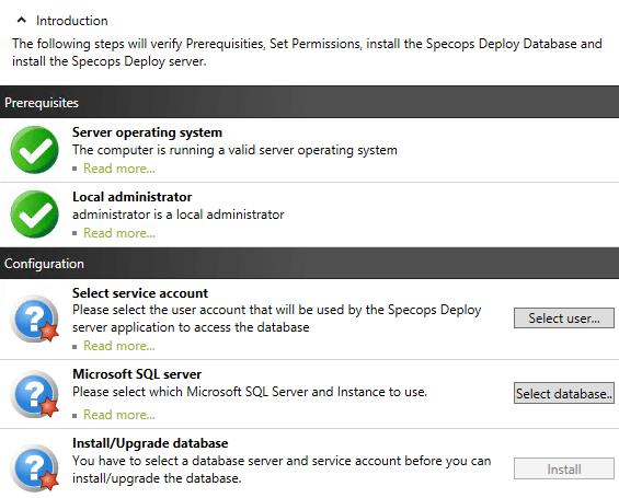 Install Specops Deploy Server
