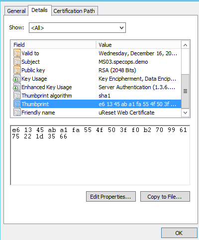 Import the certificate on all sync servers