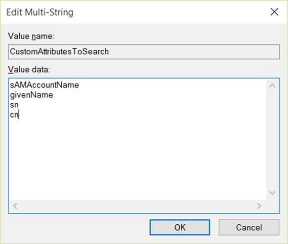 Edit multi string