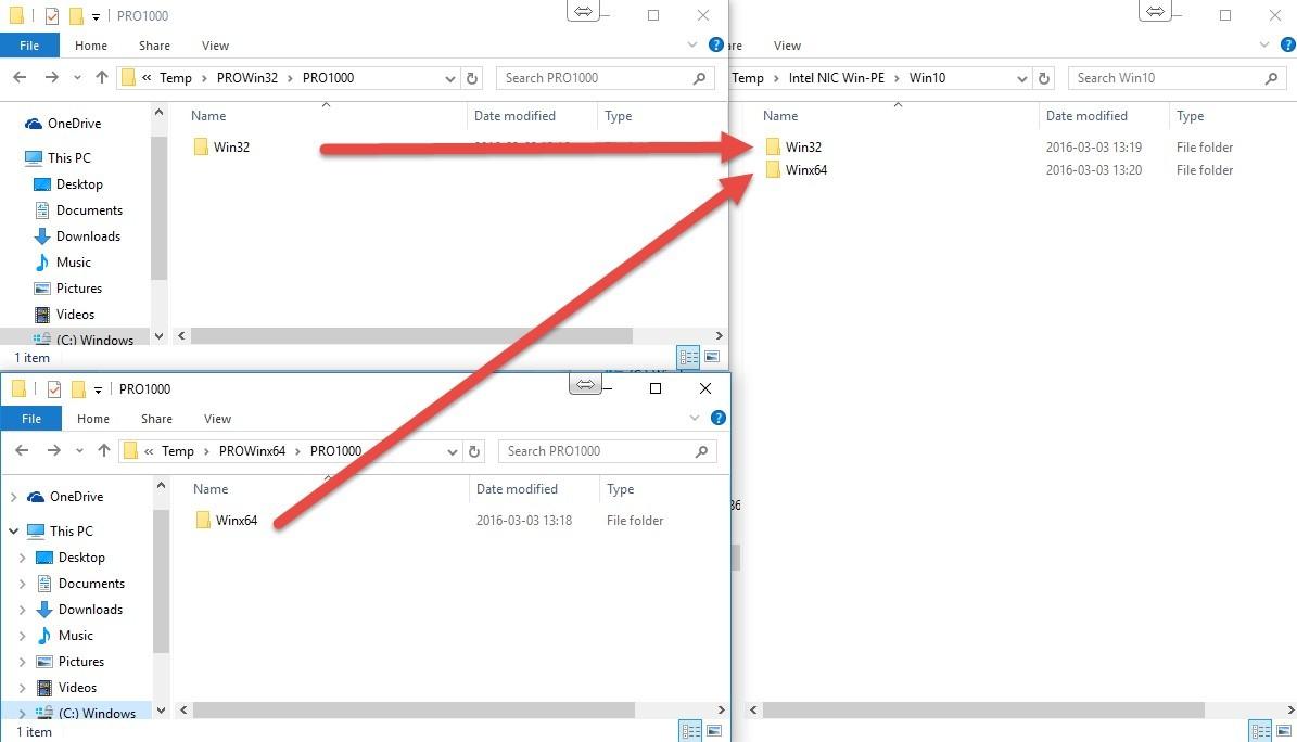 Intel I217, I218 and I219 NIC drivers in Windows PE - 1