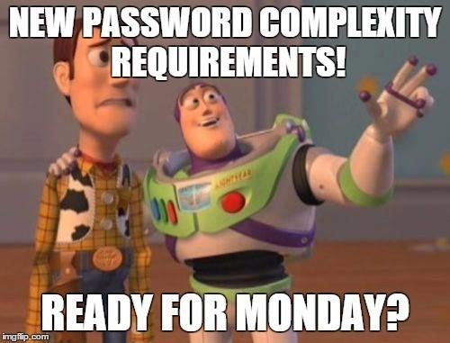 New password complexity