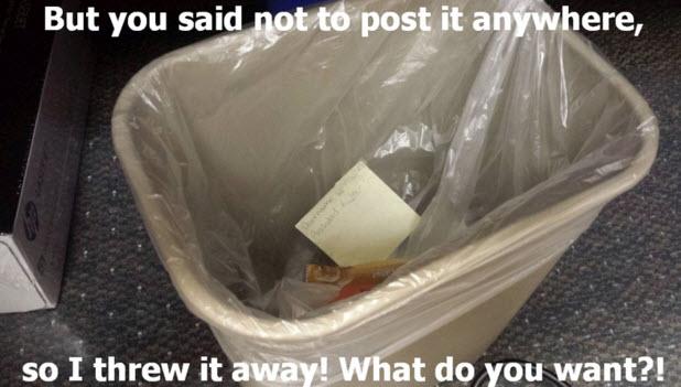 Password post-it