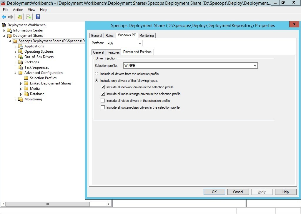 Creating a WinPE boot image - 3